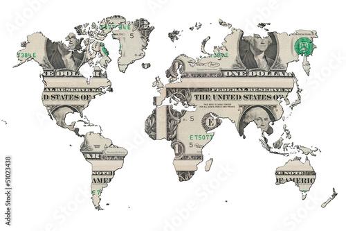 mapa-swiata-z-dolarem-amerykanskim