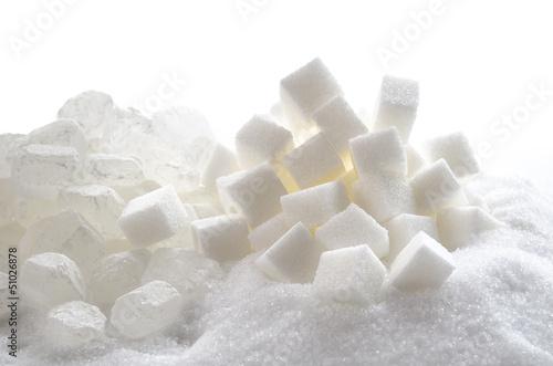 Fotografie, Obraz  Verschiedene Zuckersorten