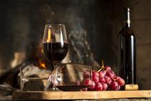 Copas De Vino Tinto, Botella U...