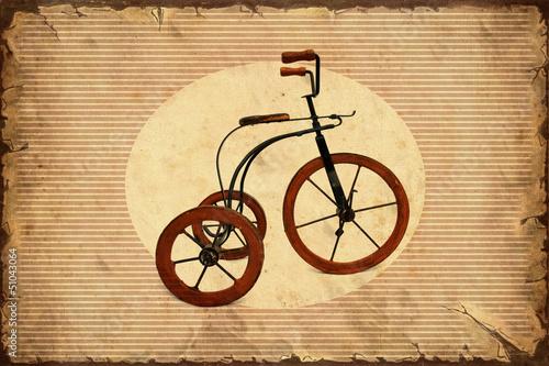 Foto op Plexiglas Vintage Poster Retroplakat - Dreirad I