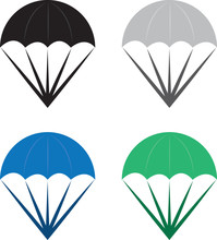Isolated Parachutes In Various...