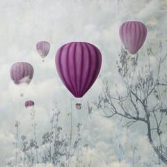 fototapeta różowe balony