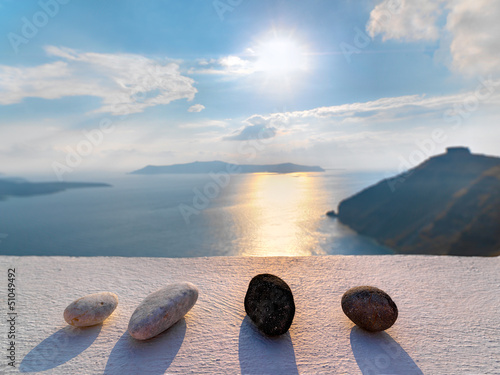 Greece santorini imerovigli amazing view to the sea