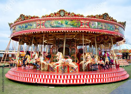 Fotografie, Obraz  Colorful carousel