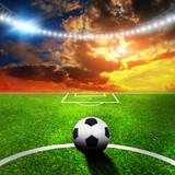Stadion piłkarski ze światłami - 51052823