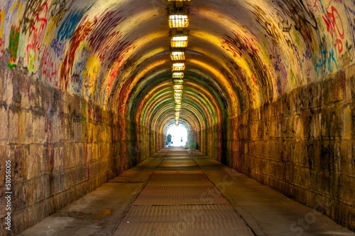 Urban underground tunnel