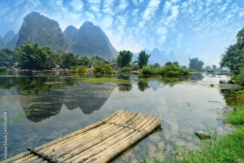Tuinposter China natural scenery in Guilin, China