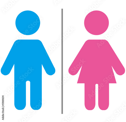 Fotografía  Cute male and female sign Vector