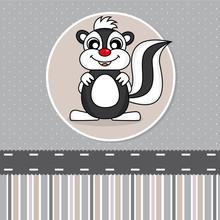 Greeting Card. Skunk