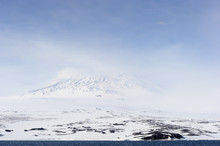Mount Erebus On Antarctica.