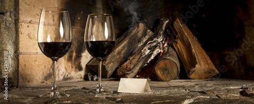 Fotografia Copas de vino en el hogar. Escriba su mensaje.