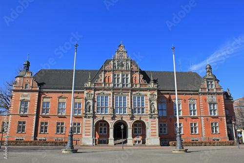 Fotografie, Obraz  Hamburg: Rathaus Harburg von 1889 (Neorenaissance)
