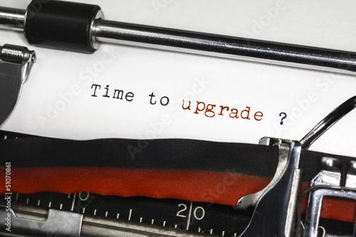Foto op Aluminium Retro Time To Upgrade