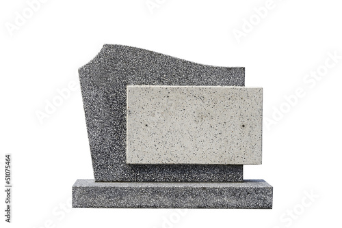 Fotomural single grave stone cut out (Clipping path)