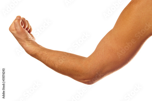 Fototapeta Man's muscular arm