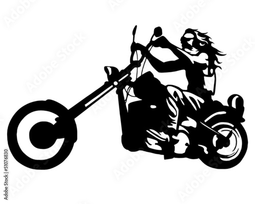 Wall Murals Motorcycle chopper free