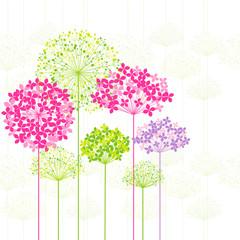 Fototapeta Romantyczny Springtime Colorful Flower on Dandelion Background