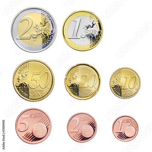 Fotografía  Euromünzen