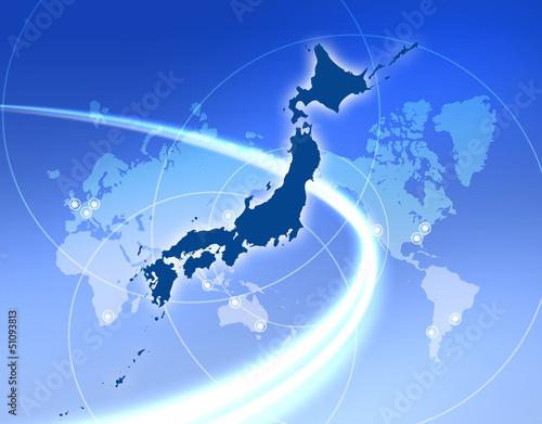 Foto op Canvas Wereldkaart 日本ビジネス