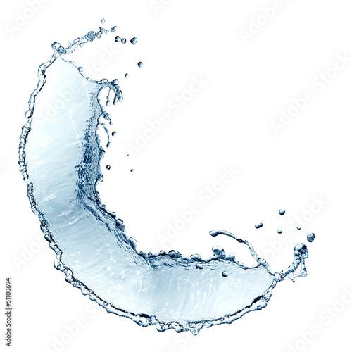 Printed kitchen splashbacks Water Water Splash Border