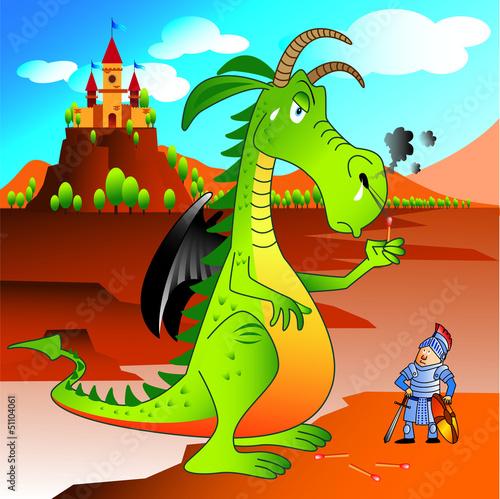 Keuken foto achterwand Dinosaurs dragon green