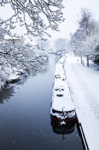 Canal In The Snow, Bath, UK