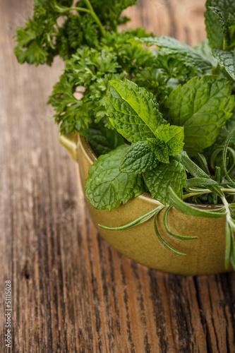 Fototapeta Fresh herbs obraz na płótnie