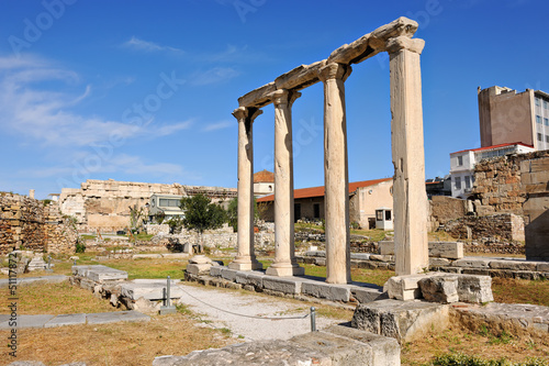 Photo Remains of the ancient Roman Agora in Athens