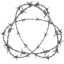 Three Rotating Circle Of Barbed Wire