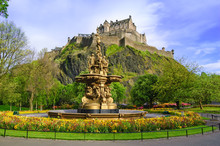 Ross Fountain Landmark In Edin...