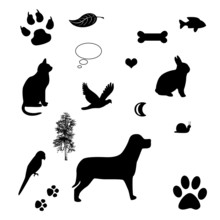 Vector Frame With Cat And Dog ...