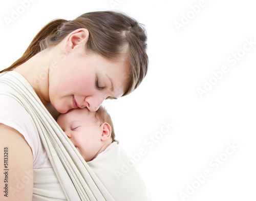Photo  carrying a baby