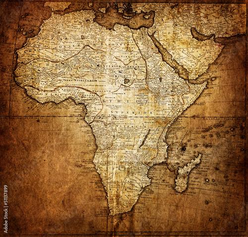 Fototapeta Afryka   vintage-mapa-afryki