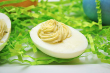 Fancy Easter Deviled Eggs