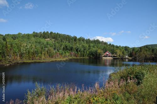 Cuadros en Lienzo Quebec, Harvey lake in Saint Simeon
