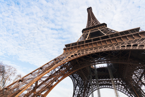 Fototapeta Eiffel tower in Paris obraz na płótnie