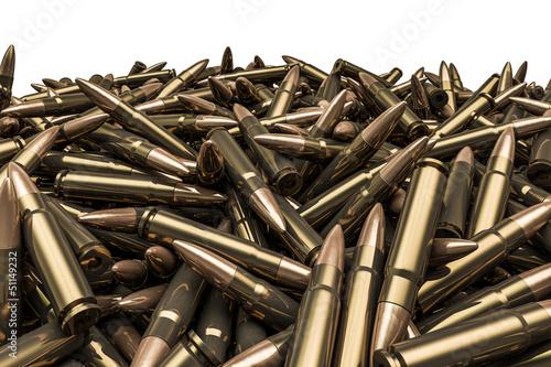 Stampa su Tela Rifle bullets pile