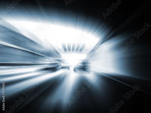Fotografie, Obraz  geschwindigkeit auf der autobahn
