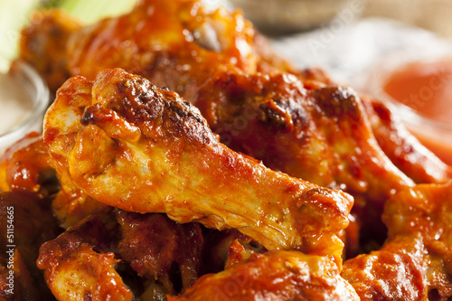 Fotografie, Tablou Hot and Spicey Buffalo Chicken Wings