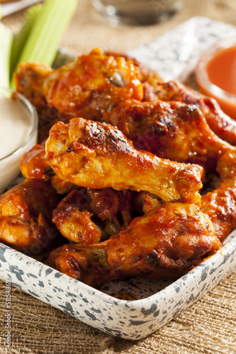 Keuken foto achterwand Kip Hot and Spicey Buffalo Chicken Wings