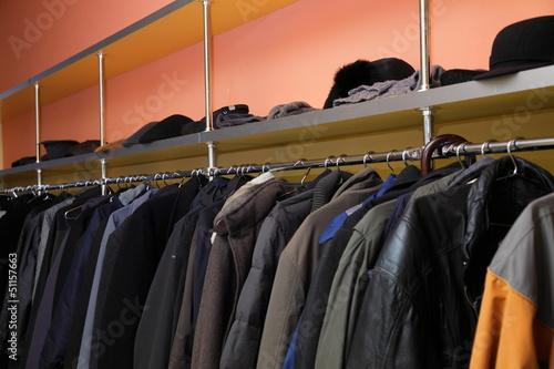 Many clothes in cloakroom Tapéta, Fotótapéta
