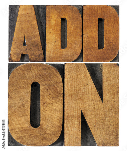 addon (add-on) in wood type Wallpaper Mural