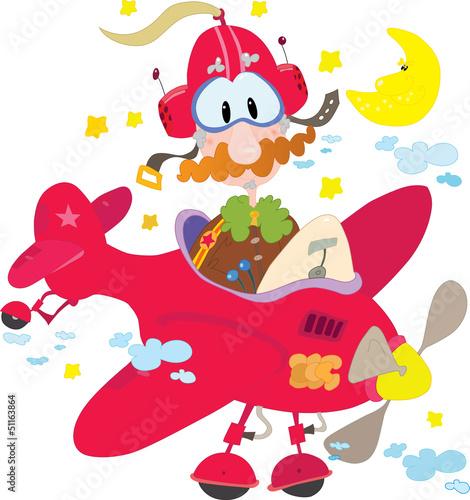 Papiers peints Avion, ballon Pilot