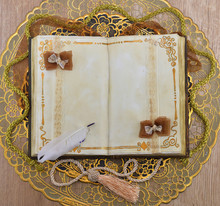 Vintage Gold Diary With Decoration