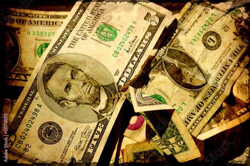 Papiers peints Affiche vintage Retroplakat - Dollarscheine