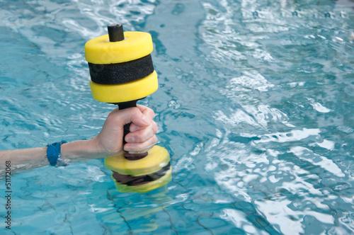 Fényképezés  Aquasport-Hantel im Wasser