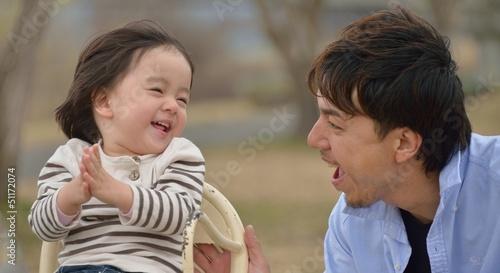 Fotografia  楽しく遊ぶパパとベビー