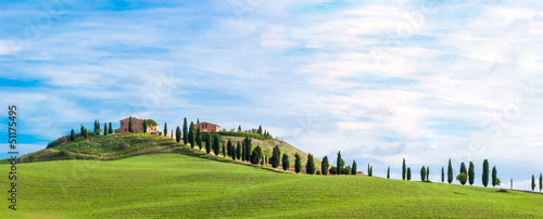 Door stickers White Tuscany, landscape