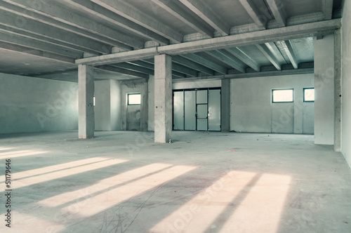 Staande foto Industrial geb. industrial warehouse room