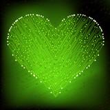 valentine's day circuit heart. eps10 vector illustration